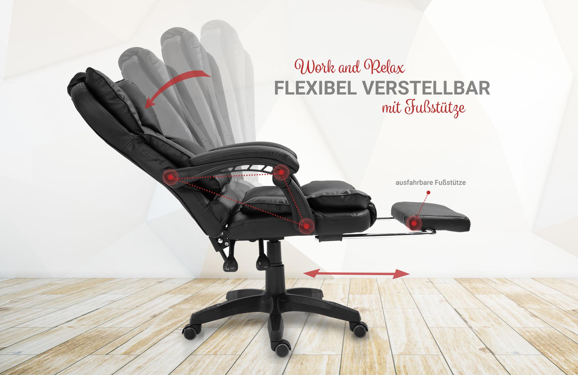 Details zu Bürostuhl Schreibtischstuhl Design TV Sessel Chefsessel Relax & Home Office